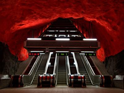 Экскурсия по синей ветке метро Стокгольма