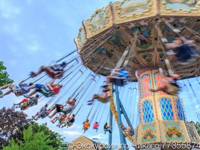 Экскурсия в парк развлечений Six Flags   Американские горки