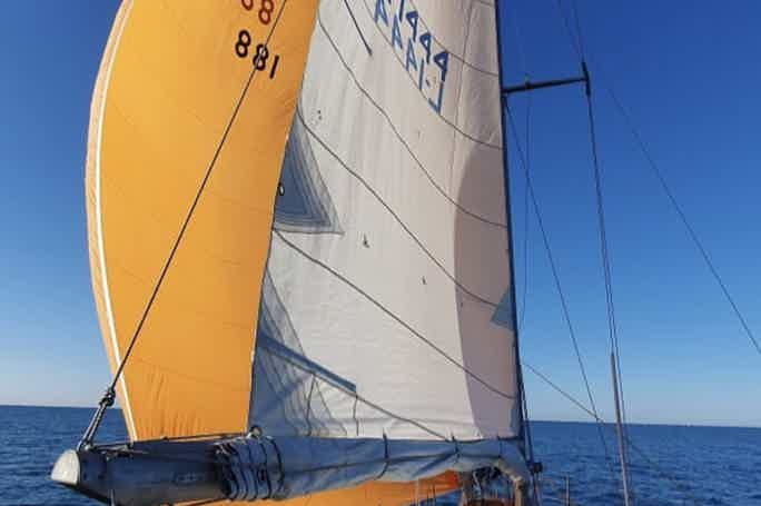 Sailing boat trip on a yacht