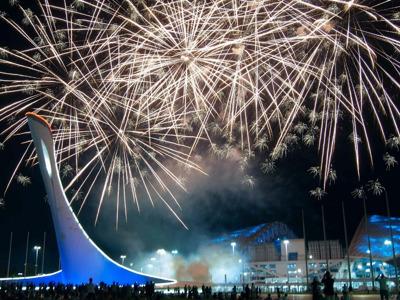 Фестиваль фейерверков в Олимпийском парке