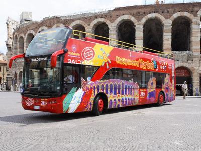 Верона: hop-on hop-off автобус на 24 часа или 48 часов