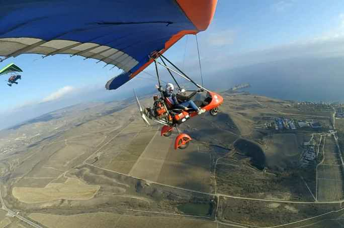 Полёт на мотодельтоплане над Клементьева