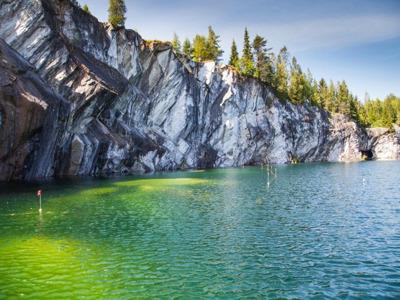 Чудо Карельской природы — Мраморный каньон Рускеала