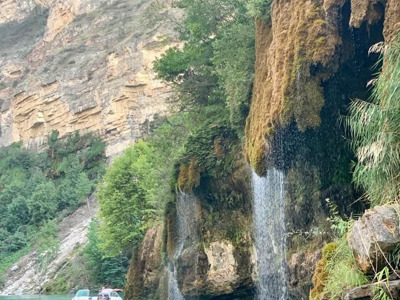 Поездка в группе на Сулакский каньон (к водопадам) и бархан Сары-кум