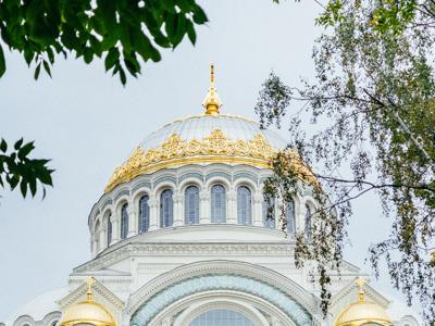 Кронштадт — Никольский (Морской) собор и Петровский док