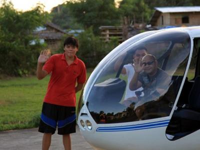 Полет на вертолете вдоль пляжа