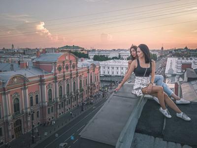 Весь центр Петербурга с крыши