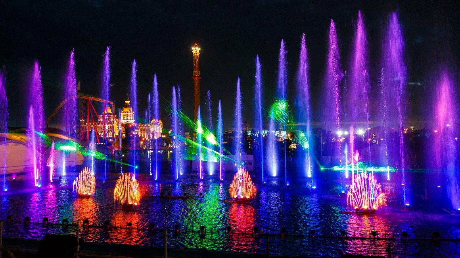 Экскурсия на шоу фонтанов в Сочи