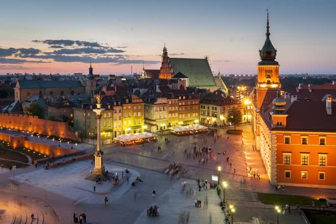 Экскурсия по ночной Варшаве