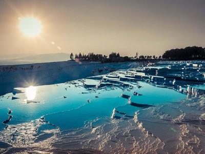 Памуккале, «белый рай», и античный курорт Иераполис