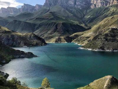 Озеро Гижгит, перевал Актопрак и Верхний Чегем из Железноводска