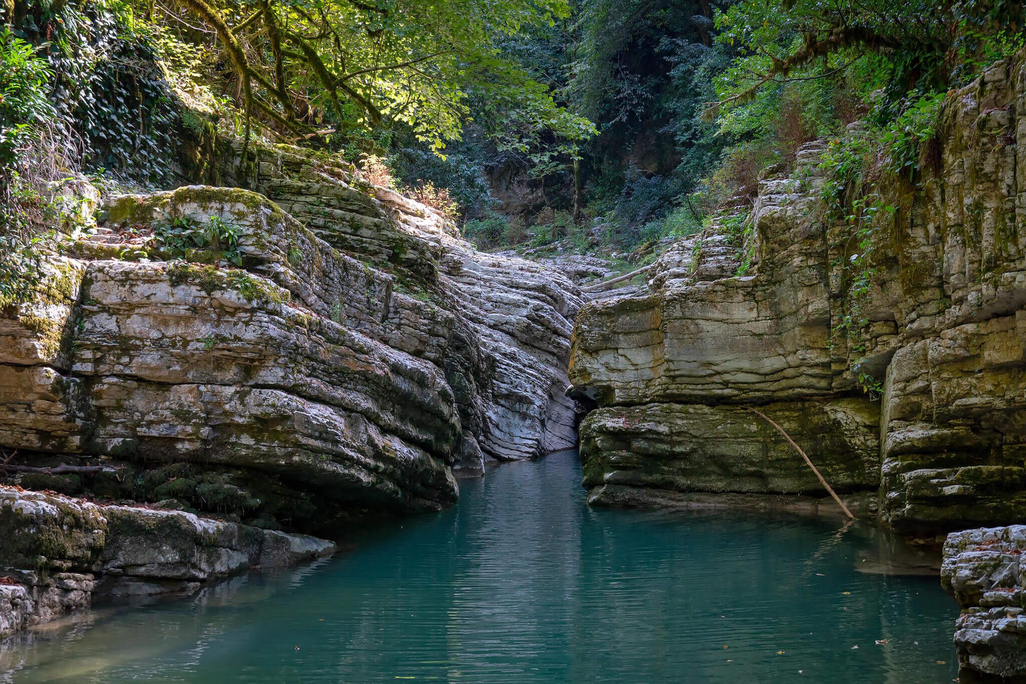 Каньон реки Псахо фото