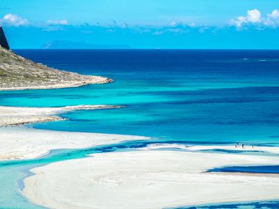 Остров Грамвуса и бухта Балос из района Ханья