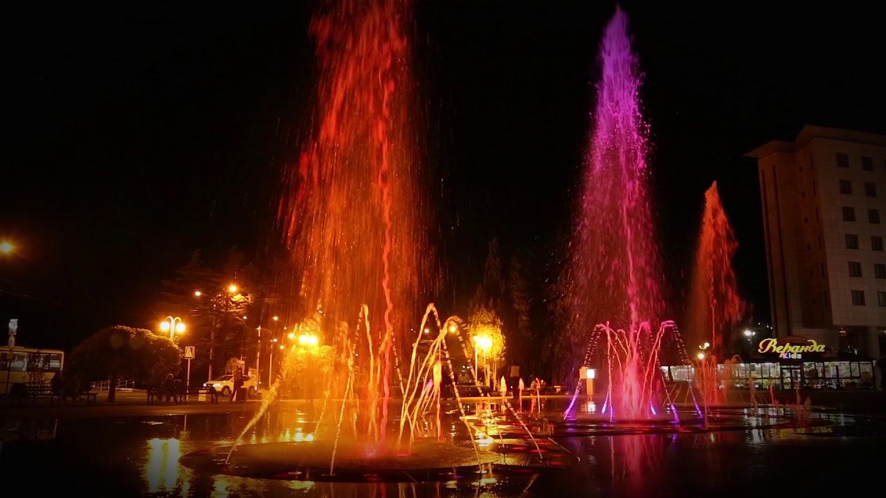 Фото Поющий фонтан в Туапсе.