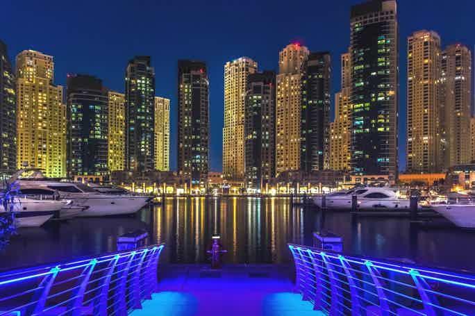 По Дубай Марине на мега-яхте с ужином по системе «шведский стол»