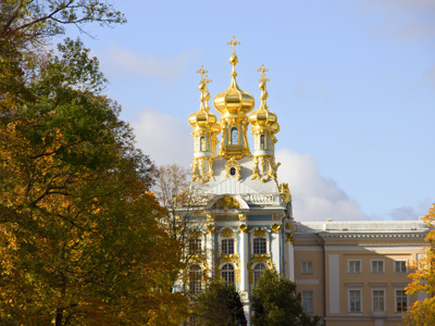Пушкин (Царское Село): Екатерининский дворец, парк и Янтарная комната