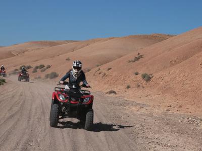 Приключение в Марракеше на квадроциклах: пустыня, как на ладоне
