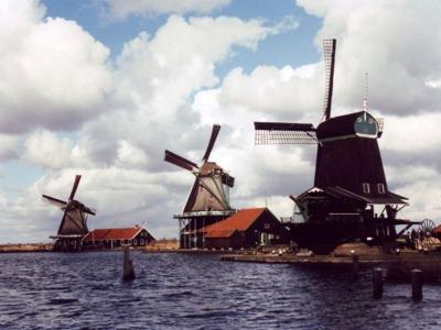 Заансе Сханс — ветряные мельницы и деревянные домики