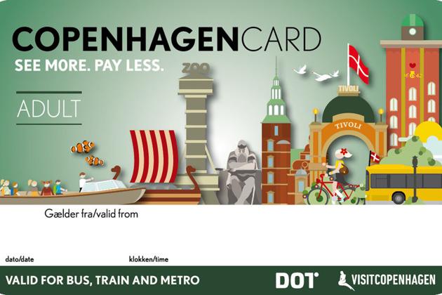 Копенгаген: карта туриста (с транспортом)